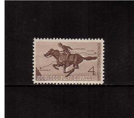 view larger image for  : SG Number 1153 / Scott Number 1154 (1960) - Pony Express Centenary