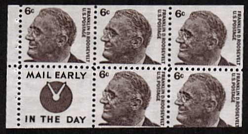 view larger image for  : SG Number 1266b / Scott Number 1284c (1965) - Franklin D. Roosevelt<br/>