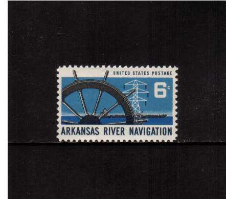 view larger image for  : SG Number 1343 / Scott Number 1358 (1968) - Arkansas River Navigation