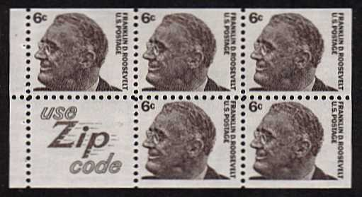 view larger image for  : SG Number 1266b / Scott Number 1284cv (1968) - Franklin Roosevelt<br/>