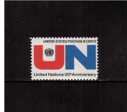 view larger image for  : SG Number 1415 / Scott Number 1419 (1970) - United Nations 25th Anniversary