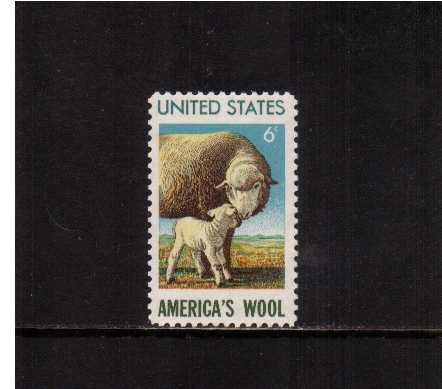 view larger image for  : SG Number 1419 / Scott Number 1423 (1971) - American Wool Industry
