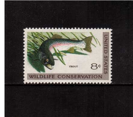 view larger image for  : SG Number 1428 / Scott Number 1427 (1971) - Wildlife - Trout