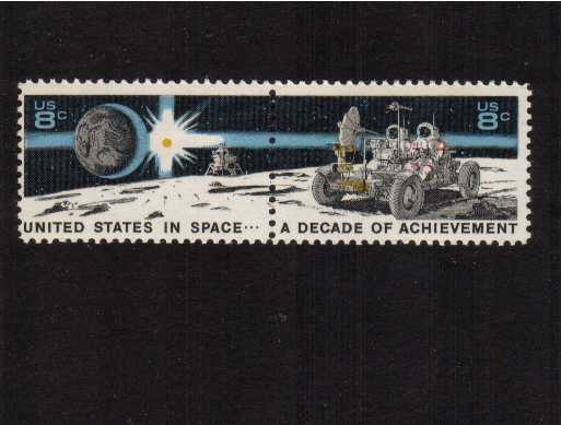 view larger image for  : SG Number 1438b / Scott Number 1434a (1971) - Space Achievement Decade<br/>