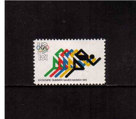 view larger image for  : SG Number 1466 / Scott Number 1462 (1972) - Olympics - Running