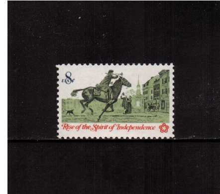view larger image for  : SG Number 1483 / Scott Number 1478 (1973) - Colonial America, Post Rider