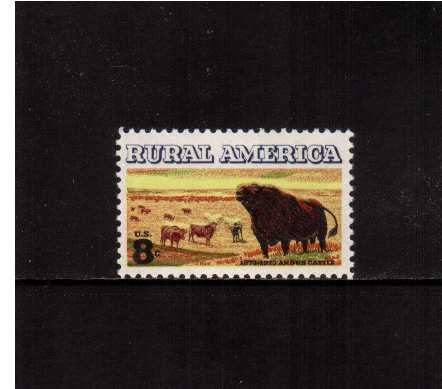 view larger image for  : SG Number 1510 / Scott Number 1504 (1973) - Rural America - Cattle