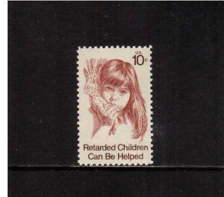 view larger image for Commemoratives 1974 - 1976 - Middle Period Commemoratives: SG Number 1547 / Scott Number 10c (1974) - Retarded Children