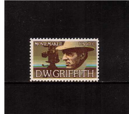view larger image for Commemoratives 1974 - 1976 - Middle Period Commemoratives: SG Number 1561 / Scott Number 10c (1975) - Arts Issue - D.W. Griffith