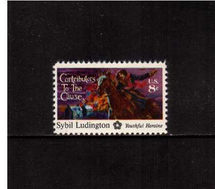 view larger image for Commemoratives 1974 - 1976 - Middle Period Commemoratives: SG Number 1555 / Scott Number 8c (1975) - To the cause - Sybil Ludington