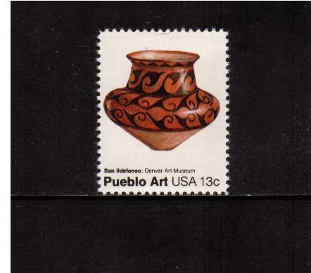 view larger image for Commemoratives 1977 - 1980 - Middle Period Commemoratives: SG Number 1683 / Scott Number 13c (1977) - Pueblo Art - San Ildefonso Pot