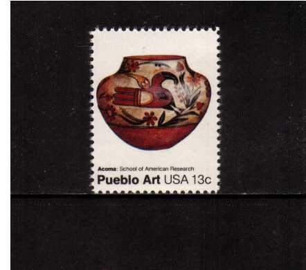view larger image for Commemoratives 1977 - 1980 - Middle Period Commemoratives: SG Number 1685 / Scott Number 13c (1977) - Pueblo Art - Acoma Pot