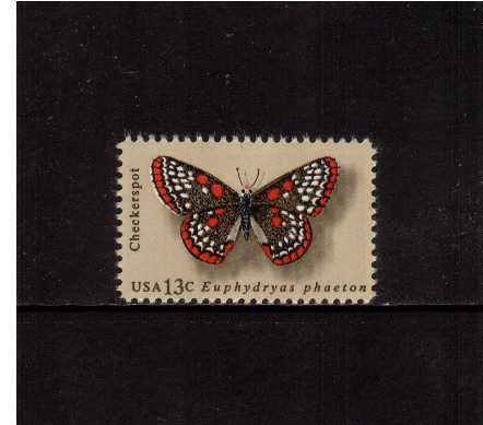 view larger image for Commemoratives 1977 - 1980 - Middle Period Commemoratives: SG Number 1689 / Scott Number 13c (1977) - Butterflies - Checkerspot