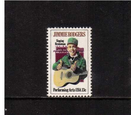 view larger image for  : SG Number 1725 / Scott Number 1755 (1978) - Jimmie Rodgers