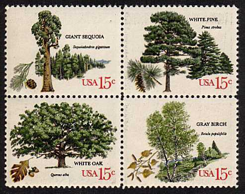 view larger image for  : SG Number 1740a / Scott Number 1767a (1978) - Trees <br/>Block of 4