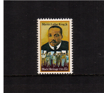 view larger image for  : SG Number 1744 / Scott Number 1771 (1979) - Black Heritage Series - Martin Luther King