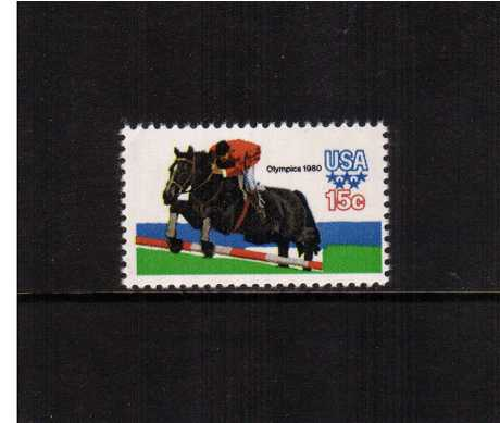 view larger image for  : SG Number 1768 / Scott Number 1794 (1979) - Summer Olympics - Show Jumping