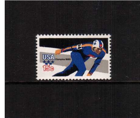 view larger image for  : SG Number 1778a / Scott Number 1795A (1979) - Winter Olympics - Speed Skating