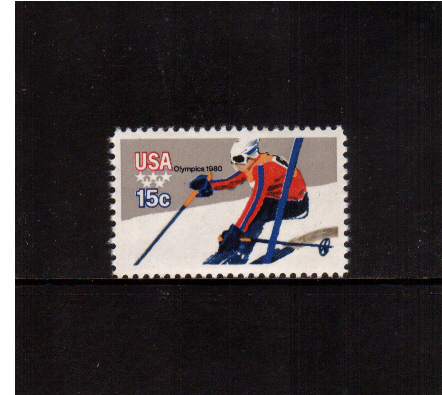 view larger image for  : SG Number 1779 / Scott Number 1796 (1979) - Winter Olympics - Downhill Skiing