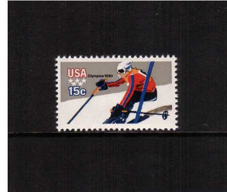 view larger image for  : SG Number 1779a / Scott Number 1796A (1979) - Winter Olympics - Downhill Skiing<br/><br/>