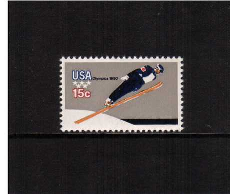 view larger image for  : SG Number 1780a / Scott Number 1797A (1979) - Winter Olympics - Ski Jumping