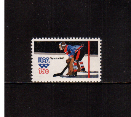 view larger image for  : SG Number 1781 / Scott Number 1798 (1979) - Winter Olympics - Ice Hockey Goaltender<br/><br/>