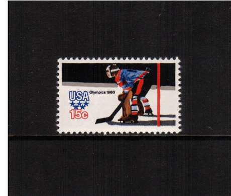 view larger image for  : SG Number 1781a / Scott Number 1798A (1979) - Winter Olympics - Ice Hockey Goaltender