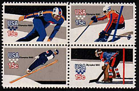 view larger image for  : SG Number 1781a / Scott Number 1798b (1979) - Winter Olympics <br/>