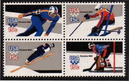 view larger image for  : SG Number 1781ba / Scott Number 1798c (1979) - Winter Olympics<br/>