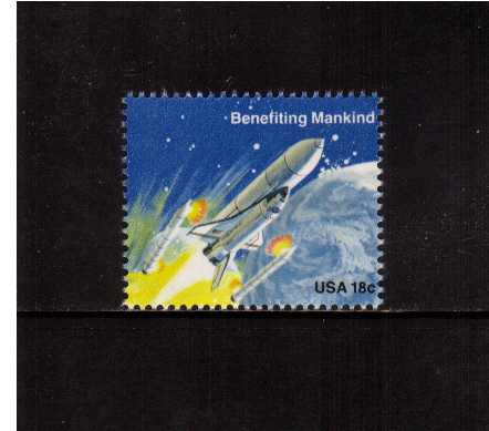 view larger image for Commemoratives 1981 - 1982 - Middle Period Commemoratives: SG Number 1887 / Scott Number 18c (1981) - Space Achievement - Benefiting Mankind