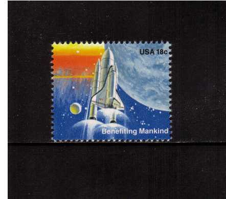 view larger image for Commemoratives 1981 - 1982 - Middle Period Commemoratives: SG Number 1891 / Scott Number 18c (1981) - Space Achievement - Benefiting Mankind