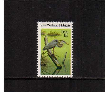 view larger image for Commemoratives 1981 - 1982 - Middle Period Commemoratives: SG Number 1895 / Scott Number 18c (1981) - Wildlife - Great Blue Heron Bird