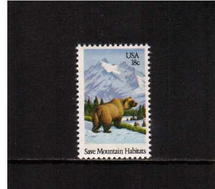 view larger image for Commemoratives 1981 - 1982 - Middle Period Commemoratives: SG Number 1897 / Scott Number 18c (1981) - Wildlife - Brown Bear
