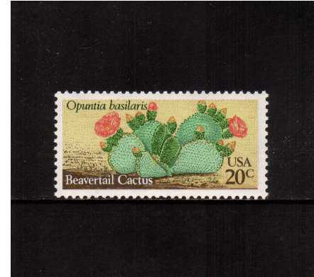 view larger image for Commemoratives 1981 - 1982 - Middle Period Commemoratives: SG Number 1922 / Scott Number 20c (1981) - Desert Plants - Beavertail Cactus