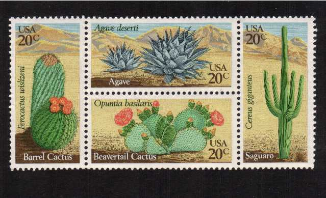 view larger image for Commemoratives 1981 - 1982 - Middle Period Commemoratives: SG Number 1922a / Scott Number 20c x4 (1981) - Desert Plants<br/>Block of four