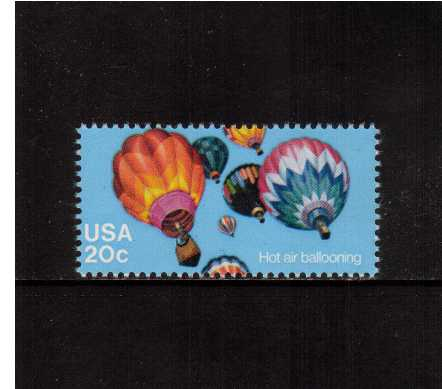 view larger image for Commemoratives 1983 - 1987 - Middle Period Commemoratives: SG Number 2018 / Scott Number 20c (1983) - Ballooning - Hot Air Balloons