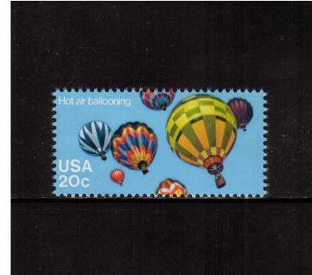 view larger image for Commemoratives 1983 - 1987 - Middle Period Commemoratives: SG Number 2019 / Scott Number 20c (1983) - Ballooning - Hot Air Balloons