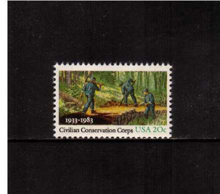 view larger image for Commemoratives 1983 - 1987 - Middle Period Commemoratives: SG Number 2021 / Scott Number 20c (1983) - Civilian Conservation Corps