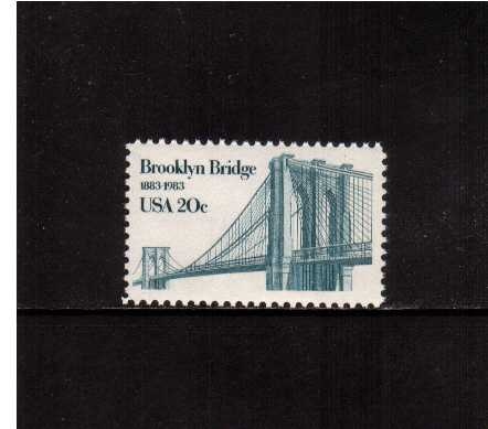 view larger image for Commemoratives 1983 - 1987 - Middle Period Commemoratives: SG Number 2030 / Scott Number 20c (1983) - Brooklyn Bridge