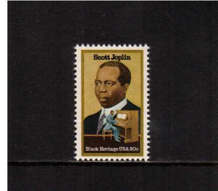 view larger image for Commemoratives 1983 - 1987 - Middle Period Commemoratives: SG Number 2033 / Scott Number 20c (1983) - Black Heritage Series - Scott Joplin