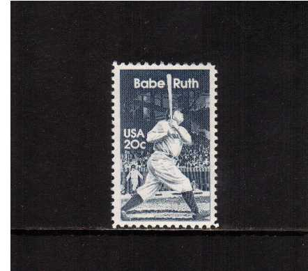 view larger image for Commemoratives 1983 - 1987 - Middle Period Commemoratives: SG Number 2038 / Scott Number 20c (1983) - Babe Ruth