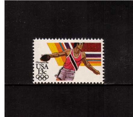 view larger image for Commemoratives 1983 - 1987 - Middle Period Commemoratives: SG Number 2040 / Scott Number 13c (1983) - Summer Olympics - Discus