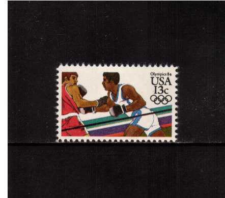 view larger image for Commemoratives 1983 - 1987 - Middle Period Commemoratives: SG Number 2043 / Scott Number 13c (1983) - Summer Olympics - Boxing