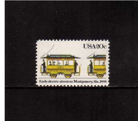 view larger image for Commemoratives 1983 - 1987 - Middle Period Commemoratives: SG Number 2053 / Scott Number 20c (1983) - Streetcars - Montgomery. Ala. 1886