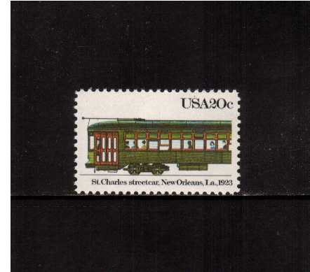 view larger image for Commemoratives 1983 - 1987 - Middle Period Commemoratives: SG Number 2055 / Scott Number 20c (1983) - Streetcars - New Orleans, 1923