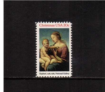 view larger image for Commemoratives 1983 - 1987 - Middle Period Commemoratives: SG Number 2056 / Scott Number 20c (1983) - Christmas - Raphael Madonna