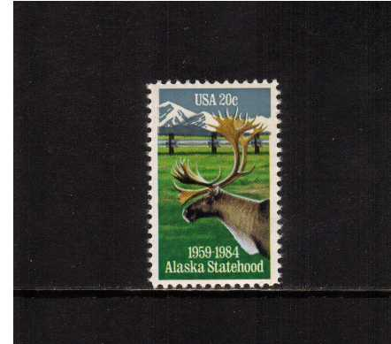 view larger image for Commemoratives 1983 - 1987 - Middle Period Commemoratives: SG Number 2063 / Scott Number 20c (1984) - Alaska Statehood