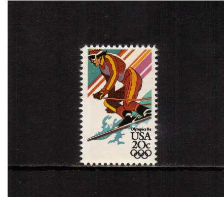 view larger image for Commemoratives 1983 - 1987 - Middle Period Commemoratives: SG Number 2065 / Scott Number 20c (1984) - Winter Olympics - Alpine Skiing