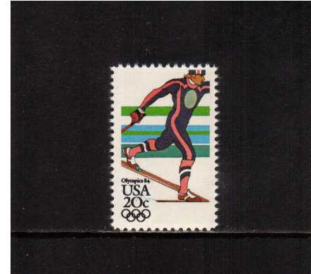view larger image for Commemoratives 1983 - 1987 - Middle Period Commemoratives: SG Number 2066 / Scott Number 20c (1984) - Winter Olympics - Nordic Skiing