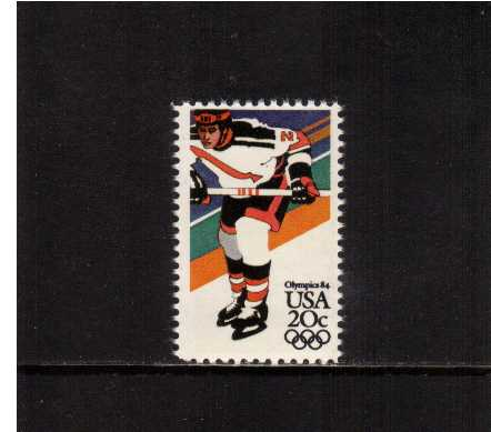 view larger image for Commemoratives 1983 - 1987 - Middle Period Commemoratives: SG Number 2067 / Scott Number 20c (1984) - Winter Olympics - Hockey